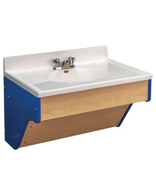 "31"" Wall-Mounted  Single Bathroom Vanity Set TotMate Base Finish: Blue, Assembly: No"