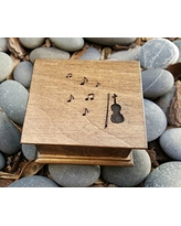 Music box with violin on the top pick your color, song