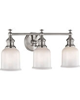 Fifth and Main Lighting Palermo 3-Light Satin Nickel Sconce with Opal Glass
