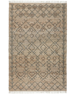 Natural And Sage Geometric Jute Accona Area Rug by World Market