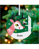 Oopsy Daisy Personalized Holiday Forest Deer Hanging Ornament NB60122