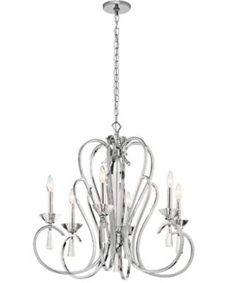 Amansara 6-Light Candle Style Classic / Traditional Chandelier with Crystal Accents