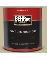 Sales On Behr Premium Plus 1 Gal 760d 4 Lion Flat Exterior Paint And Primer In One