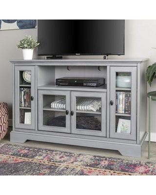 """Beachcrest Home™ Josie TV Stand for TVs up to 58"""" CDII0153 Color: Gray"""