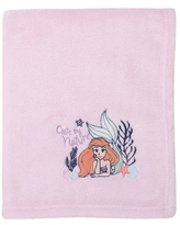 Disney The Little Mermaid Ariel Cute By Nature Super Soft Baby Blanket - Pink and Coral