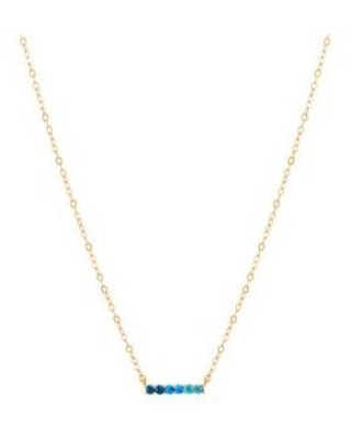 Belk & Co. Yellow Gold Swiss Blue Topaz Necklace in 10K Yellow Gold