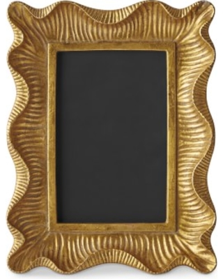 "AERIN Gold Scalloped Gallery Frame, 4"" X 6"""