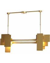 "Vermont Modern Stretch 49 3/4"" Wide Gold Island Pendant"