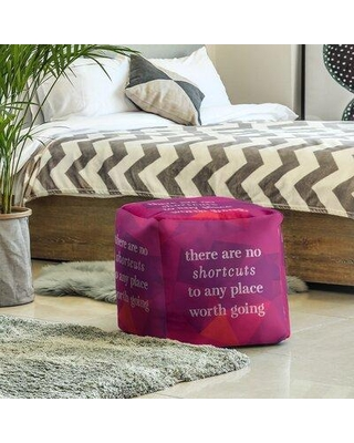 East Urban Home Ottoman FCKY3585 Upholstery Color: Rubellite