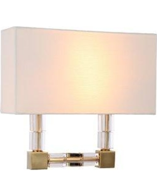 Everly Quinn Crescentia 2-Light Flush Mount EYQN4103 Finish: Burnished Brass
