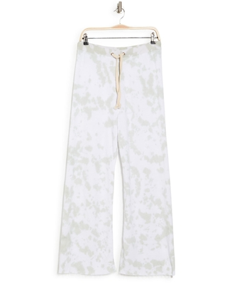 THEO AND SPENCE French Terry Tie Dye Pants, Size Medium in Green at Nordstrom Rack