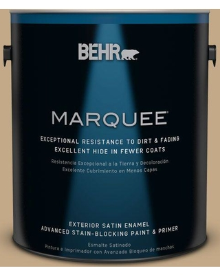 BEHR MARQUEE 1 gal. #icc-61 Toasted Grain Satin Enamel Exterior Paint and Primer in One