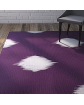 Wrought Studio Urbina Decorative Holiday Ikat Print Purple Indoor/Outdoor Area Rug VRKG4495 Rug Size: Rectangle 2' x 3'