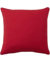 "Sunbrella(R) Contrast Piped Solid Indoor/Outdoor Pillow, 24"", Jockey Red"