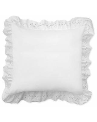 Smootheweave™ Ruffled Eyelet European Pillow Sham in White