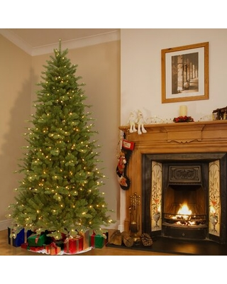 7.5' Green Spruce Artificial Christmas Tree with 550 Colored Lights The Holiday Aisle®