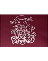 The Holiday Aisle Santa Baby Decorative Holiday Print Cranberry Burgundy Indoor/Outdoor Area Rug HLDY5844 Rug Size: Rectangle 3' x 5'