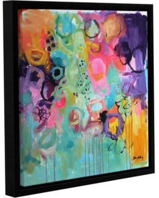 """Latitude Run Garden Abstract II Framed Painting Print on Wrapped Canvas LATR6119 Size: 24"""" H x 24"""" W x 2"""" D"""