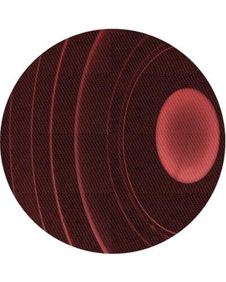 East Urban Home Harden Wool Red Area Rug W001166555 Rug Size: Round 4'