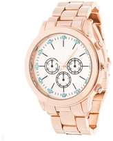 Fortune NYC Rose-Gold Alloy Case w/ Stainless Steel Back and Alloy Strap Watch (Rose Gold)