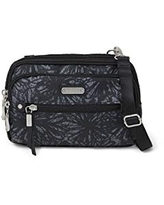 Baggallini New Classic Time Zone Rfid Crossbody Bag, Onyx Floral