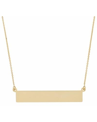 """""""14k Gold Bar Necklace, Women's, Size: 18"""", Yellow"""""""