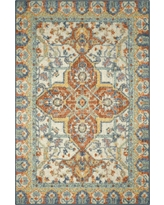 """Purple Geometric Tufted Accent Rug - (2'6""""X3'10"""") - Maples"""