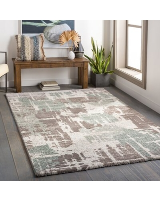 Amazing Deal On Aubin Abstract Teal Brown Beige Area Rug 17 Stories Rug Size Rectangle 6 7 X 9 6