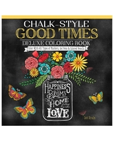 Fox Chapel Publishing Coloring Books - Chalk-Style Good Times Deluxe Coloring Book