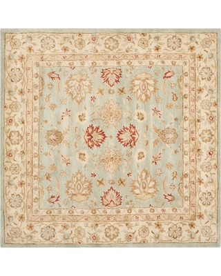 Gray Blue/Beige Floral Tufted Square Area Rug 10'X10' - Safavieh, Gray/Blue