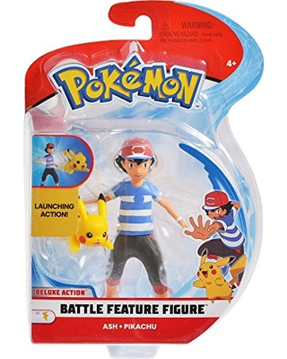 ea9eec824ca298 Pokemon Pokemon 4.5 Inch Battle Feature Action Figure, Features Ash and  Launch into Action 2 inch Pikachu from Amazon | People