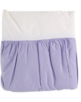 TL Care 100% Natural Cotton Percale Crib Bed Skirt, Lavender, Soft Breathable, for Girls