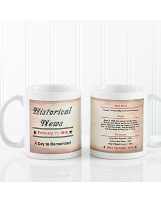Personalized Birthday Coffee Mugs - The Day You Were Born