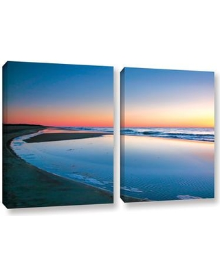 """ArtWall Sea And Surf by Steve Ainsworth 2 Piece Photographic Print on Wrapped Canvas Set 0ain032bw Size: 18"""" H x 28"""" W x 2"""" D"""