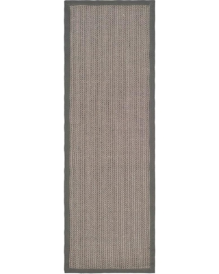 Safavieh Natural Fiber Grey Brown/Grey 3 ft. x 12 ft. Indoor Runner Rug, Gray Brown/Gray