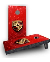 Custom Cornhole Boards Porsche Logo Cornhole Boards CCB492-C Bag Fill: Light Weight Boards with All Weather Bags