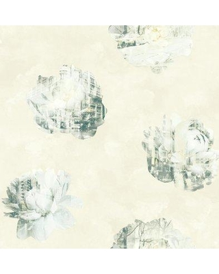 """York Wallcoverings Risky Business 2 Double Exposure Removable 33' x 20.5"""" Wallpaper Roll RY276 Color: Beige/Black/White"""