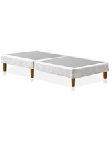 Greaton-4 inch Traditional Split Wood Box Spring / Foundation with Legs for Mattress, Twin XL Size