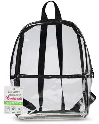 Travel Smart by Conair 17.5'' Backpack - Clear