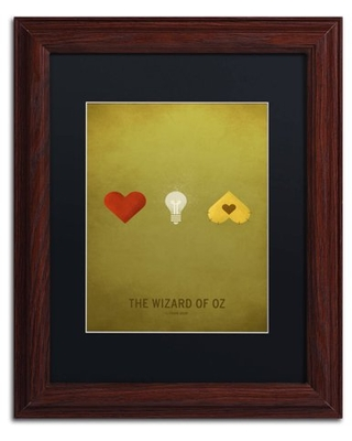 Trademark Fine Art 'Oz Kid' Canvas Art by Christian Jackson, Black Matte, Wood Frame