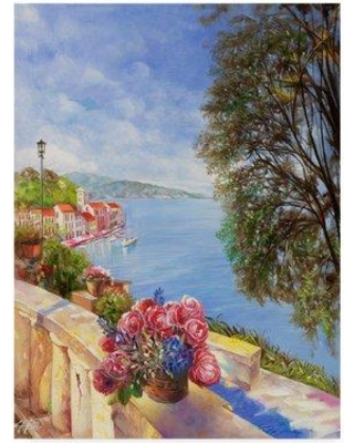 """Fleur De Lis Living 'From the Balcony' Acrylic Painting Print on Wrapped Canvas FLDV1648 Size: 24"""" H x 18"""" W x 2"""" D"""