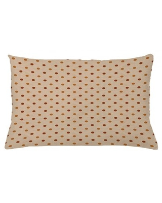 "Indoor / Outdoor Polka Dots Lumbar Pillow Cover East Urban Home Color: Tan, Size: 16"" x 26"""