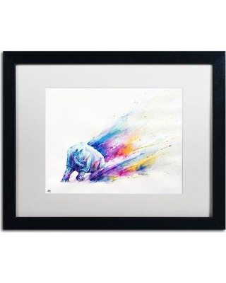 """Trademark Fine Art 'Ajax' Framed Acrylic Painting Print on Canvas, Format: Black Framed, Matte, Canvas & Fabric in White, Size 16"""" H x 20"""" W Wayfair"""