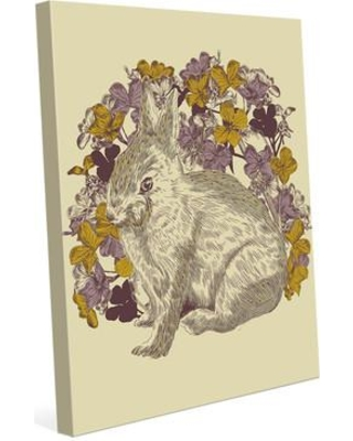 """Click Wall Art 'Rabbit Illustration' Graphic Art on Wrapped Canvas RKL0000127CAN Size: 14"""" H x 11"""" W x 1.5"""" D"""