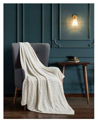 Union Rustic Fellman Luxury Brushed Textured Throw X113152252 Color: Ivory