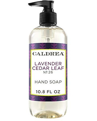 Caldrea Hand Wash Soap, Aloe Vera Gel, Olive Oil and Essential Oils to Cleanse and Condition, Lavender Cedar Leaf Scent, 10.8 oz