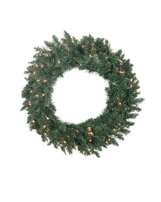 """30"""" Pre-lit Traditional Pine Artificial Christmas Wreath - Clear Lights"""