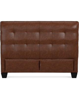 """Gable 47"""" Headboard Only, Queen, Italian Distressed Leather, Caramel"""
