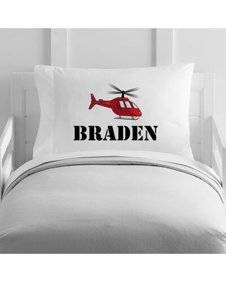 Personalized Helicopter Toddler Pillow Case