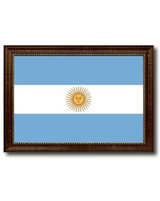 Discover Deals On Spot Color Art Argentina Country Flag Framed Print On Canvas Frame Canvas Fabric In Brown Framed Size 27 H X 39 W X 1 D Wayfair